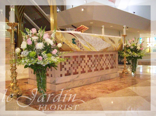 Church Altar Wedding Flower Arrangements